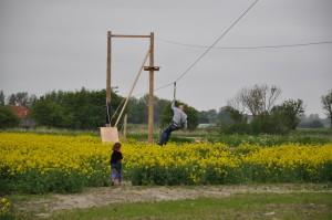 Zipline van 120 meter